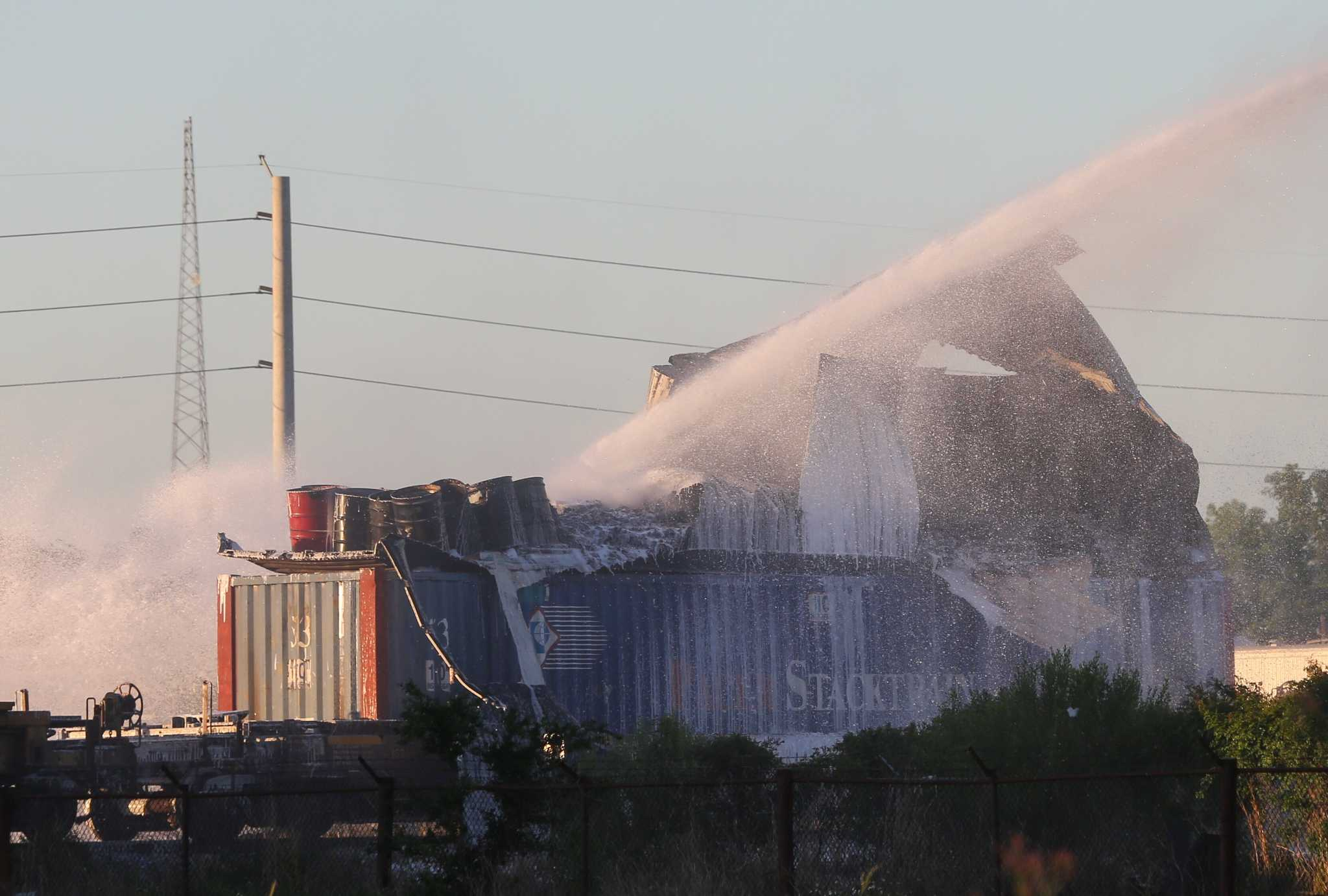 Train explosion leads to chemical release in downtown