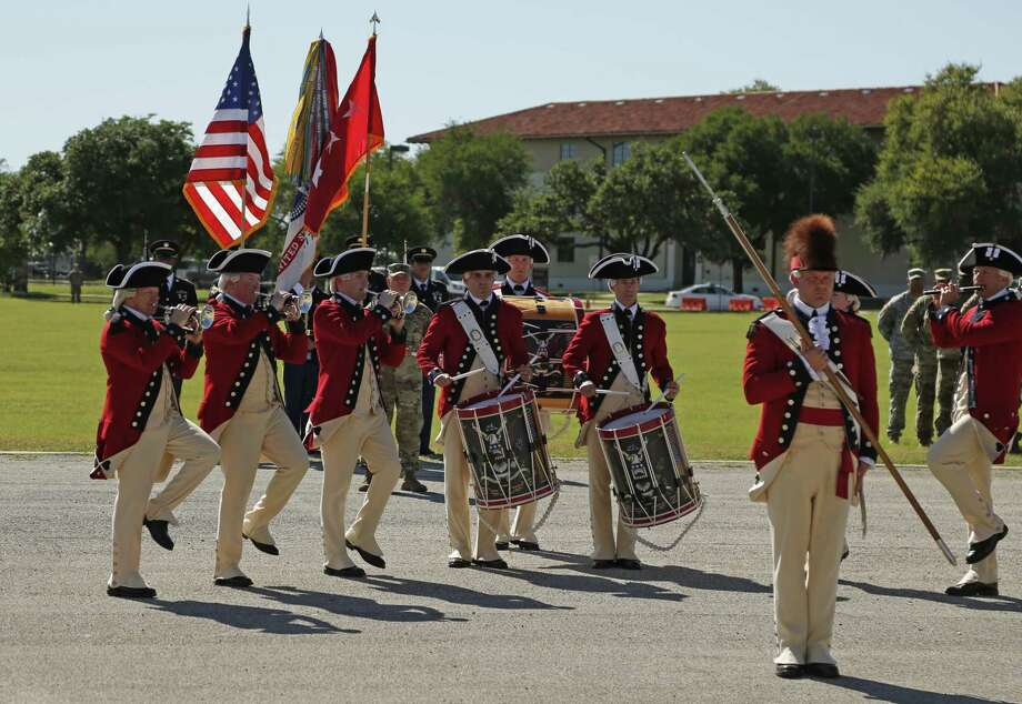Fife and Drum Corps from Fort Meyers,Va., performed Sunday at Fort Sam's Fiesta and Fireworks, which is hosted by U.S. Army North and includes  band performances. Photo: Ron Cortes / Freelance