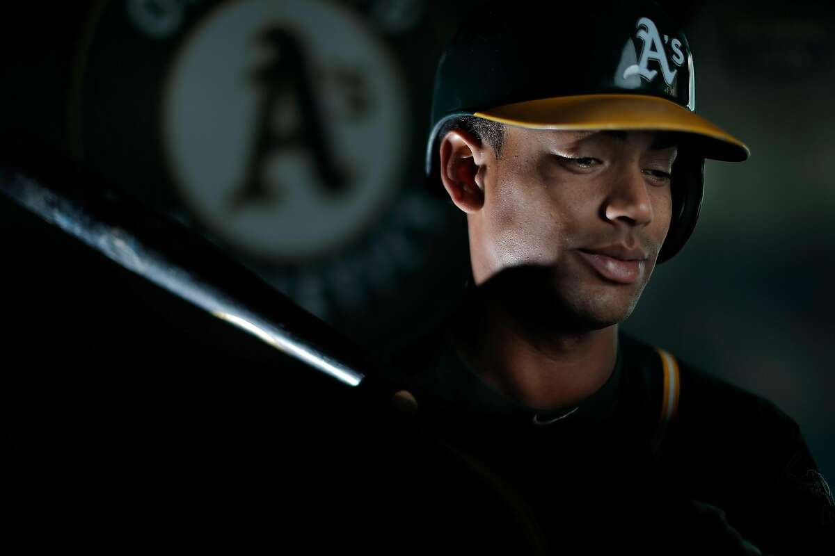 Last year A's left fielder Khris Davis became just the seventh player in A's history with a 40-homer season.