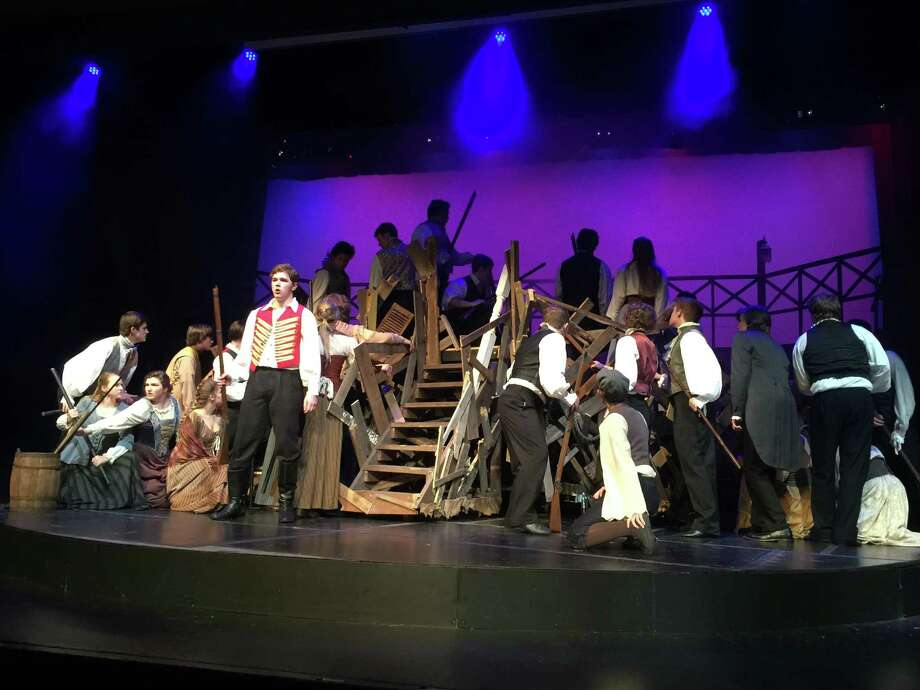 "Friendswood High School's sweeping production of the school edition of ""Les Misérables"" won honors for best ensemble/chorus, musical direction, scenic design and lighting design"