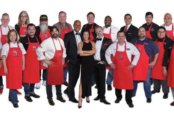 AIDS Foundation Houston presents 2017 Dining Out for Life on April 27. Participating restaurants serving breakfast, lunch or dinner will donate a portion of proceeds to support services for Houstonians living with HIV/AIDS. Shown: Event chair Jessica Rossman, center, and some of the participating chefs.