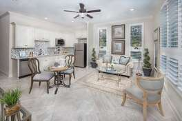 Village Builder's new Next Gen model home in Woodtrace has two homes under one roof to accommodate in-laws or other multi-generational living arrangements.