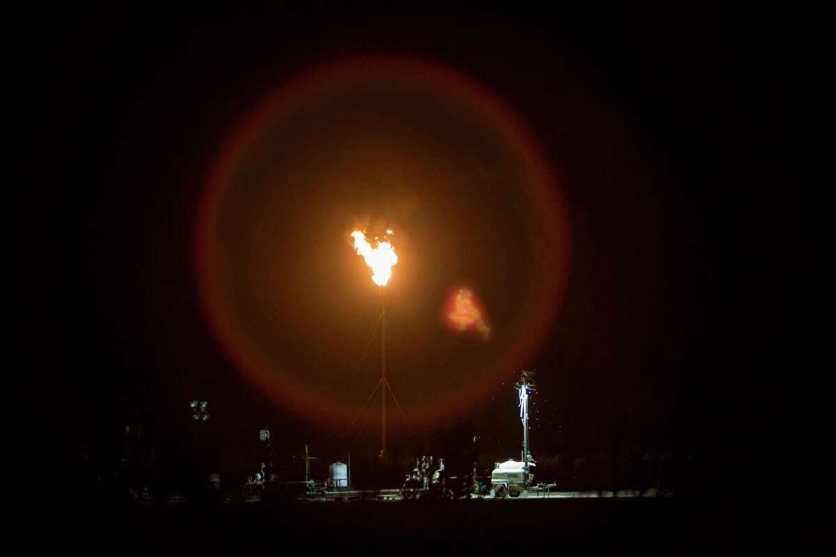 A flare is seen off Interstate 10 near Balmorhea in this 2017 photo. Flaring is major issue in the booming Permian Basin, the largest oil and natural gas field in the U.S. - both because of the sheer volume of energy it produces and a shortage of natural gas pipelines. Adding to the problem are the low prices for natural gas, making it less attractive to producers to pay pipeline companies to get their gas to market.