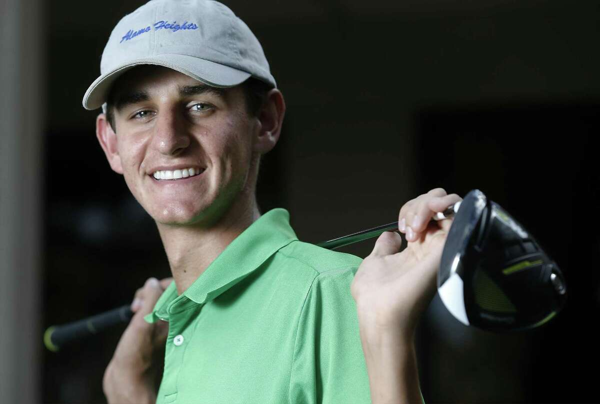 Alamo Heights' Mac Meissner, posing at San Antonio Country Club, is the 2017 Express-News Boys Golf Player of the Year.