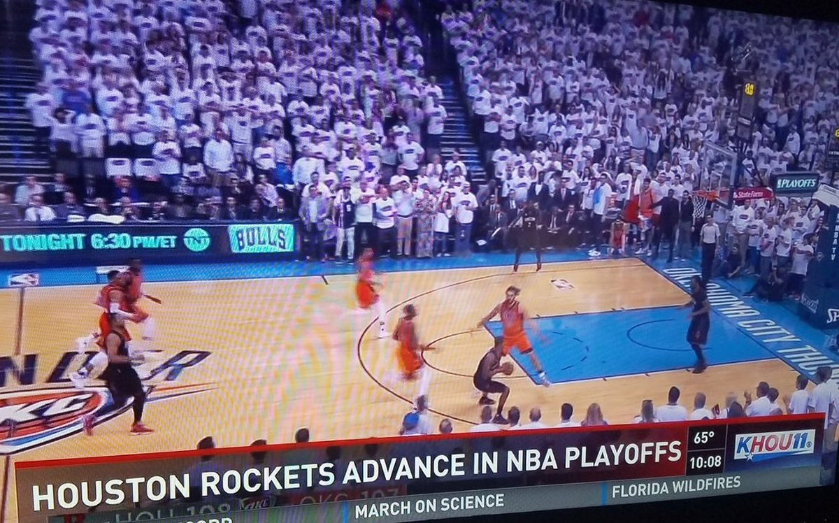 Houston television station KHOU erroneously reported the Houston Rockets had advanced to Round 2 of the NBA playoffs after winning Game 4 on Sunday, April 23, 2017. See more notable sports curses and jinxes throughout the years ...