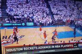 Houston television station KHOU erroneously reported the Houston Rockets had advanced to Round 2 of the NBA playoffs after winning Game 4 on Sunday, April 24, 2017.