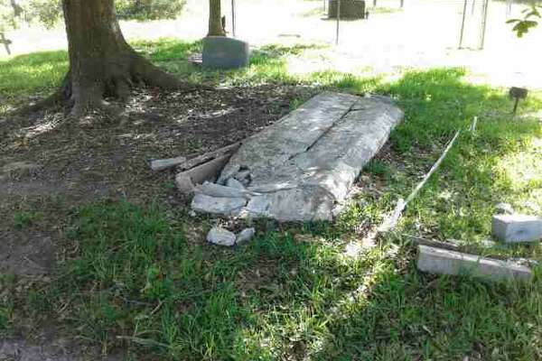 A historic cemetery northeast of Houston was vandalized early Sunday, April 23, 2017, according to the cemetery organization's executive director, Melody Fontenot. Graves and signs were knocked over by a vehicle at Crosby's Barrett Station Evergreen Cemetery in Barrett Station, which was founded in 1889 by former slave Harrison Barrett. The cemetery started in 1928 and contains about 2500 graves, Fontenot said.