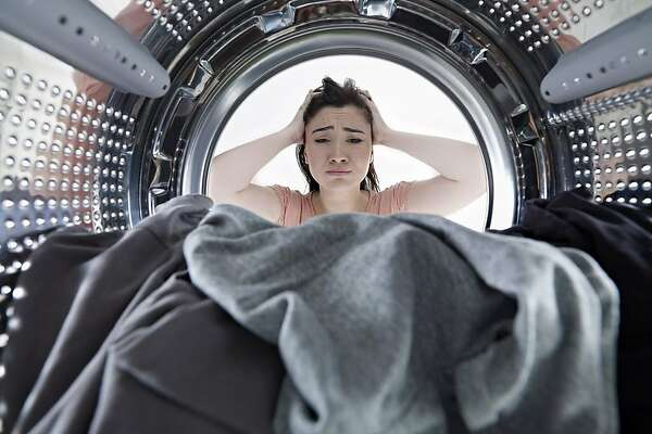 looking from inside a washing machine