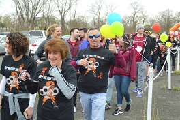 People were in good spirits for the MS Walk at Jennings Beach, Saturday, April 22, 2017, in Fairfield, Conn.