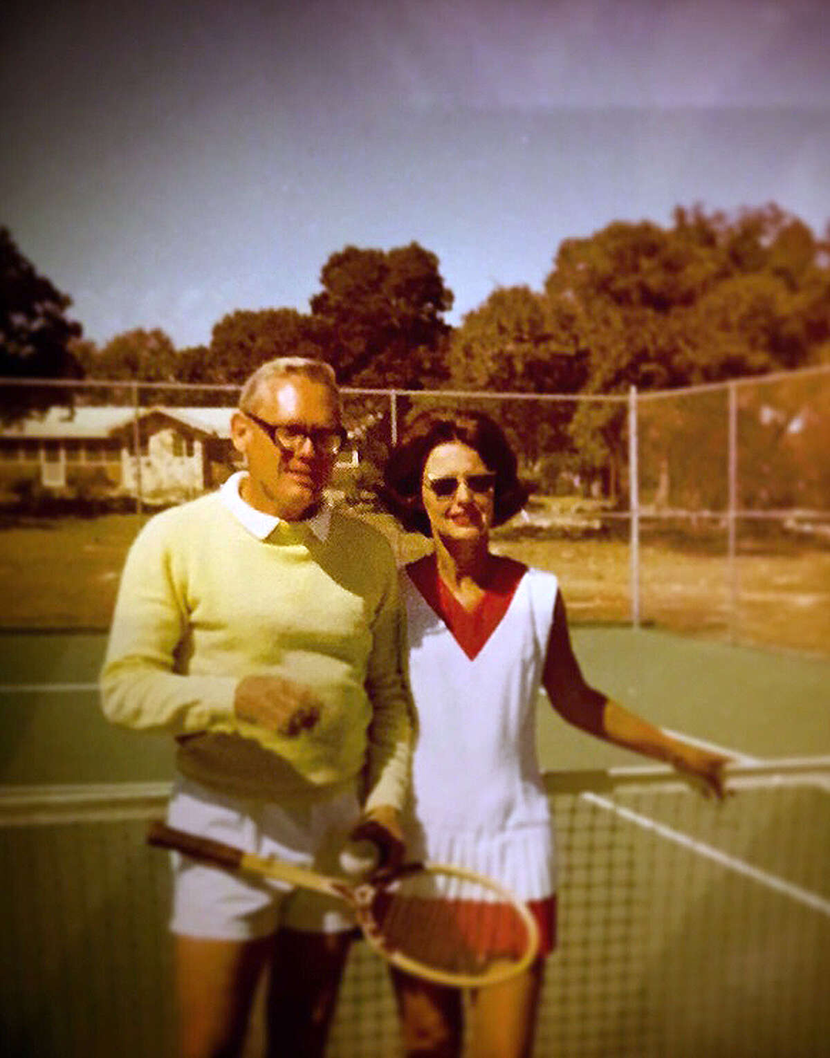 Dorothy and Ben Schleider have had fun playing tennis through the years.