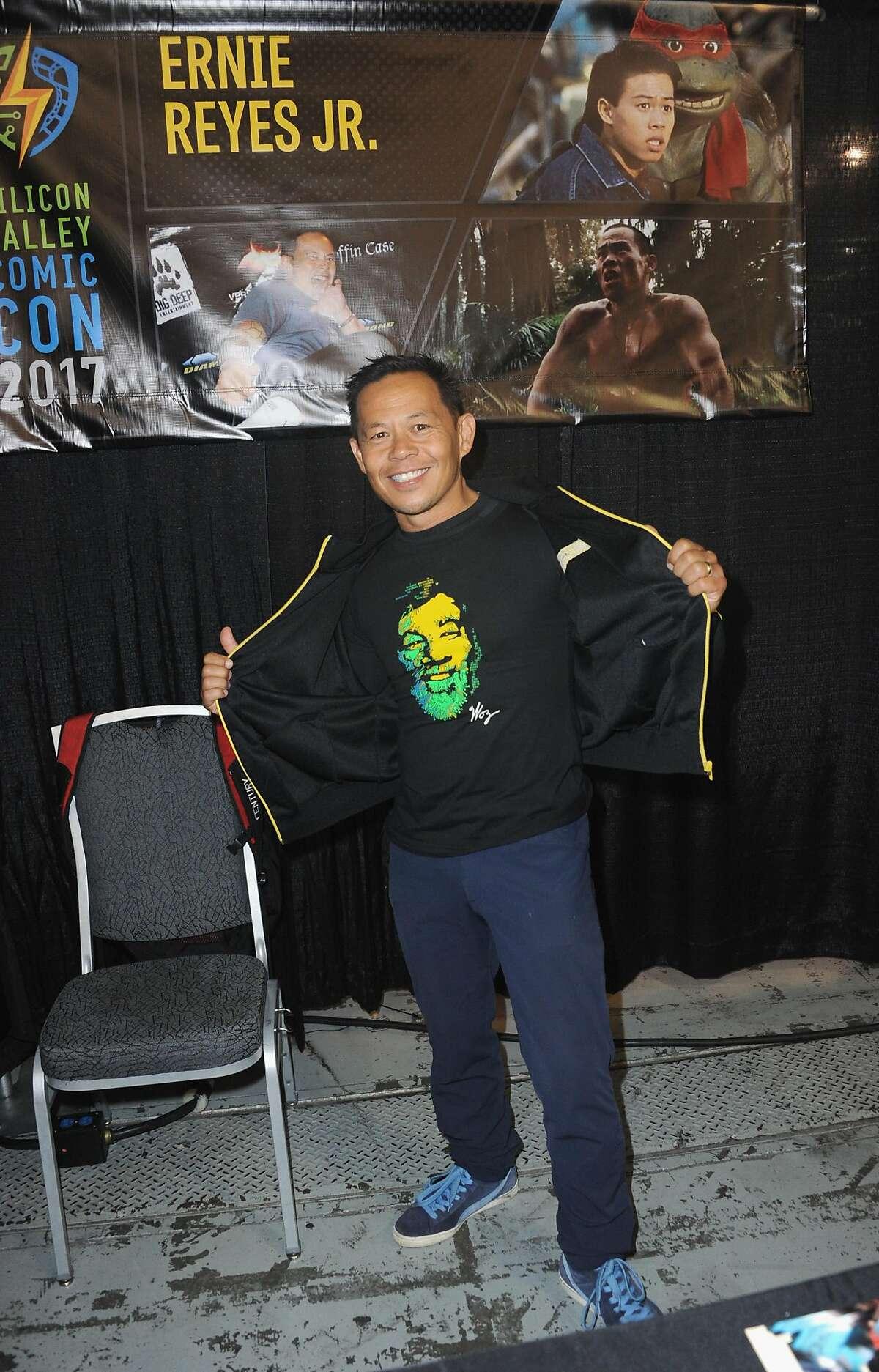 SAN JOSE, CA - APRIL 22: Actor Ernie Reyes Jr. Silicon Valley Comic Con 2017 held at San Jose Convention Center on April 22, 2017 in San Jose, California.