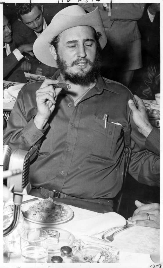 PHOTOS: When Fidel Castro came to Houston On April 27, 1959 32-year-old Cuban leader Fidel Castro came to Houston as a man who many thought would bring democracy to a small country just a few hours plane ride from Texas. The Cuban leader was on a two-week tour of the United States, Canada, and South America and was treated as a celebrity of sorts.Click through to see more of Castro's visit to Houston in 1959... Photo: Tom Colburn/Houston Chronicle