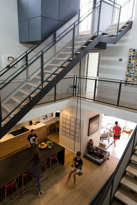 View from the second floor in the home of Nicole Rimpel and Lane Foard. Photo: Mason Trinca, Special To The Chronicle
