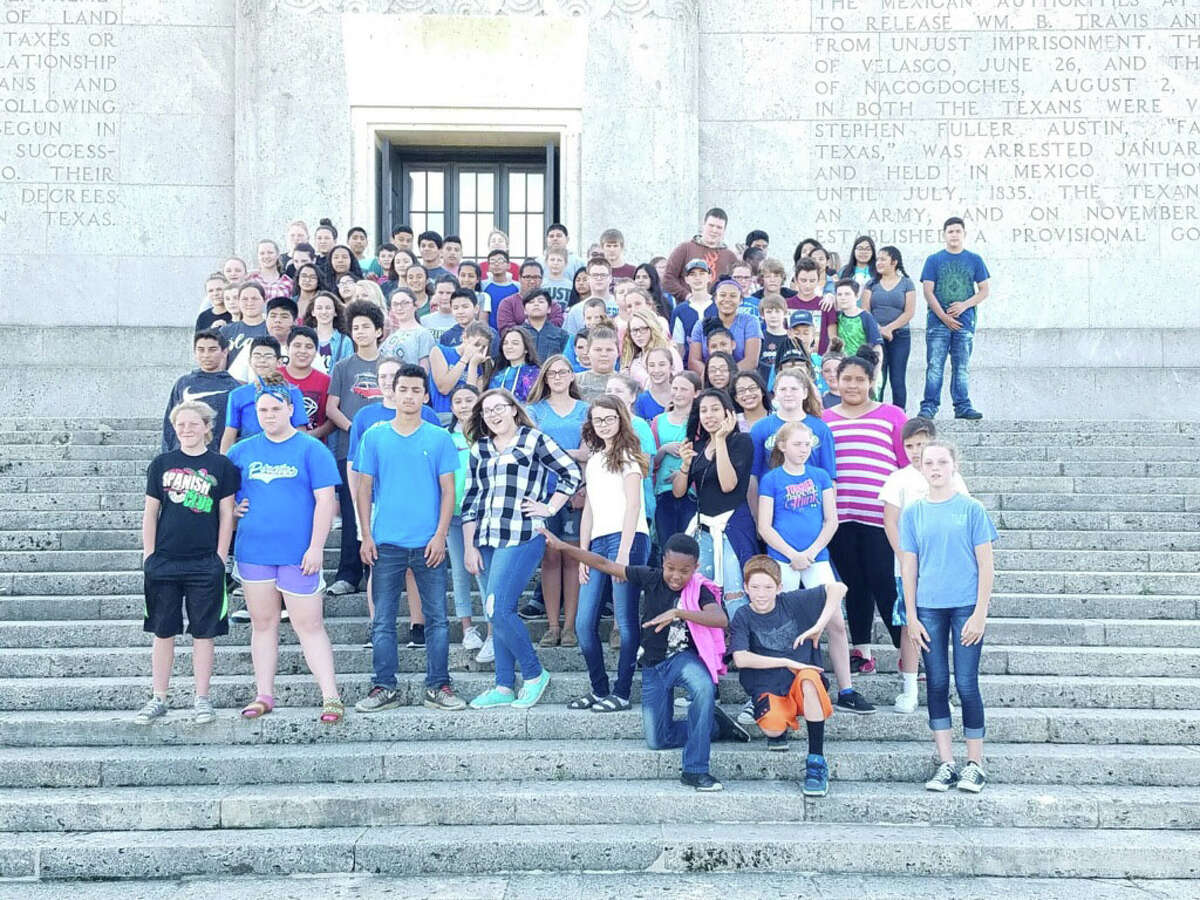 Shepherd Middle School seventh-graders recently enjoyed a day at the San Jacinto Monument. The 117 students saw artifacts from the battlefield that belonged to both Texan and Mexican soldiers. They also saw a short video called