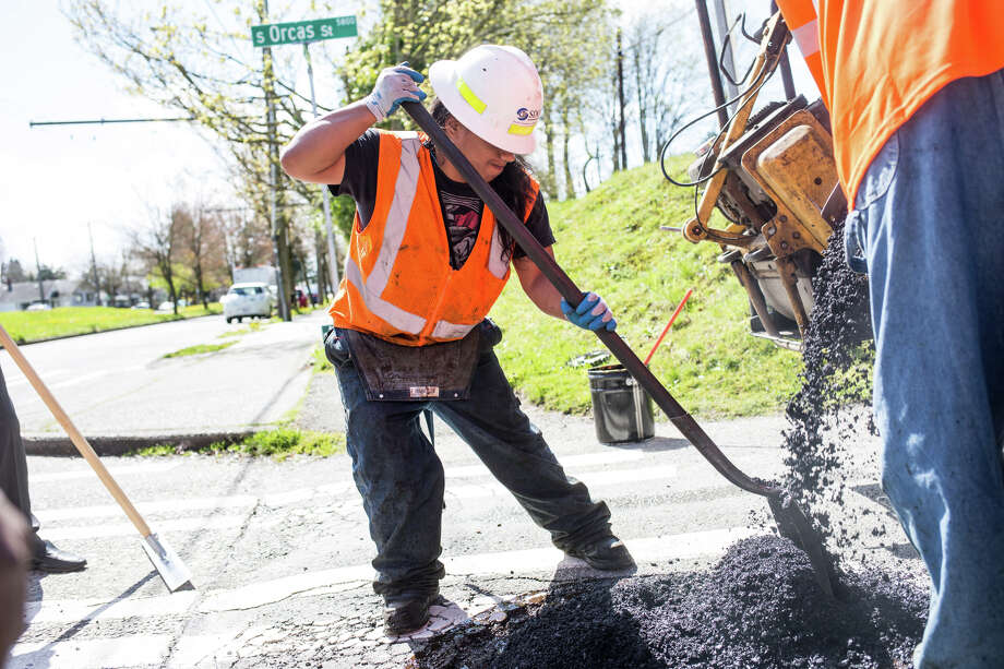 "Seattle's Department of Transportation has undertaken a renewed effort to take the rough edge off the city's streets, many of which are riddled with potholes. We combed the numbers to come up with the streets around the city that have had the most potholes in the last few years.We looked at data that dates back to 2011 in some places, and tallied the number of work orders for each street over all that time, and then tallied the number of potholes repaired in the last 90 days. It should be noted that not all work orders seem to represent a pothole that was repaired (many list zero (0) as the number of potholes repaired, but also are marked as ""completed"" under another column). We have reached out for clarification on this and will update once we know more.Click through to see the roughest streets in Seattle.Pictured: SDOT crews fill potholes at Beacon Ave S and S Orcas St. on Wednesday, April 19, 2017. Photo: GRANT HINDSLEY, SEATTLEPI.COM / SEATTLEPI.COM"