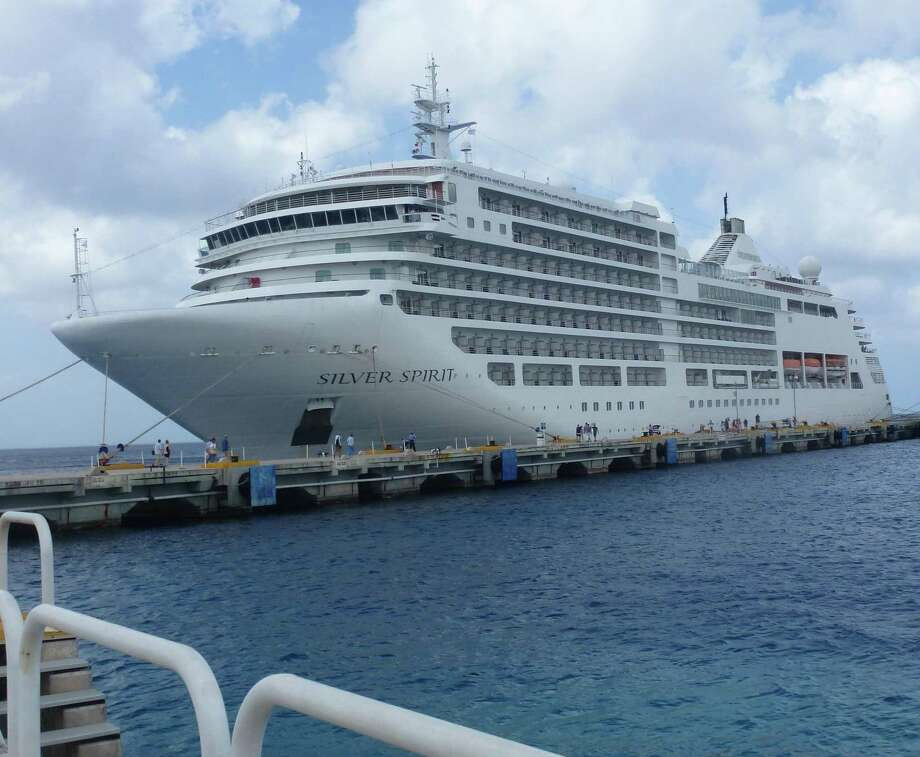 The 540-passenger, super luxury Silver Spirit docked in Costa Maya, Mexico. Photo: Si Liberman / For The Express-News