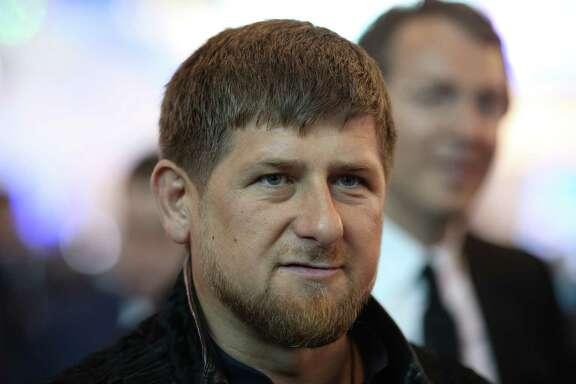 Chechen leader Ramzan Kadyrov in Saint Petersburg, Russia, in June 2015. MUST CREDIT: Chris Ratcliffe, Bloomberg