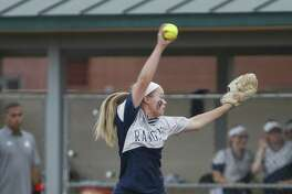Smithson Valley starting pitcher Presley Smith delivers during the Class 6A bidistrict softball game against Reagan at NEISD Complex on April 29, 2016