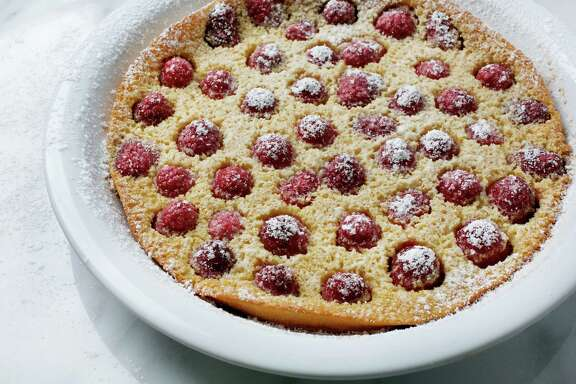 Honey Whole-Wheat Clafoutis with Raspberries improves the basic pancake.