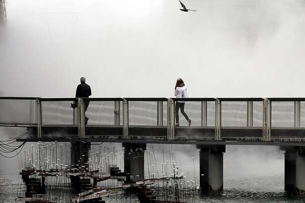 The Exploratorium Fog Bridge greets visitors between Piers 15 and 17 on the San Francisco Bay waterfront in San Francisco, Calif., on Mon. April 24, 2017.