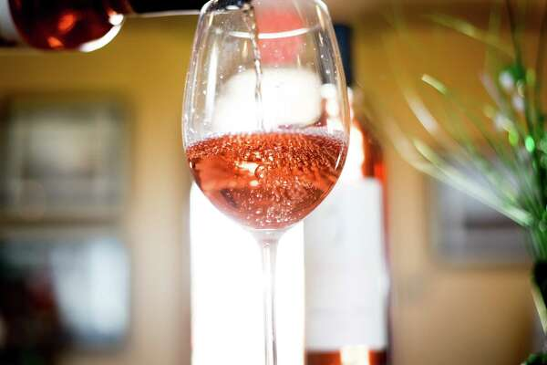 Rose bubbles in a glass at Julietta Winery in Clarksburg, Calif., on Saturday, March 11, 2017.