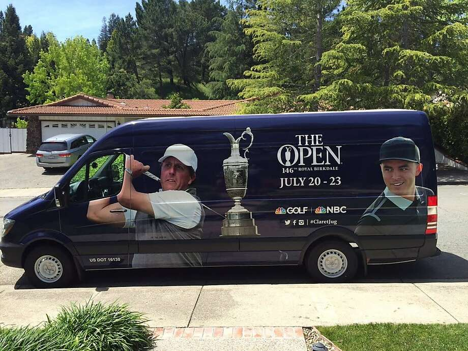 The Claret Jug is traveling around the country in this hard-to-miss truck. Photo: Ron Kroichick