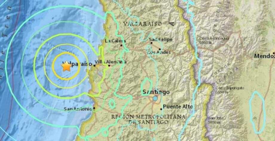 Magnitude 7.1 earthquake strikes near Valparaiso, Chile