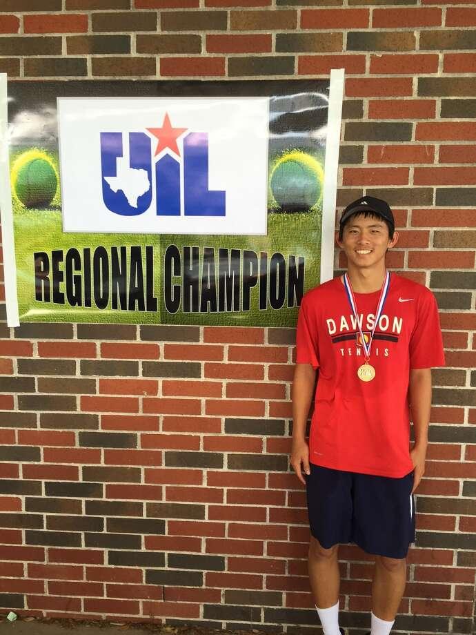 Dawson High School tennis player Kevin Zhu. Photo: Dawson High School