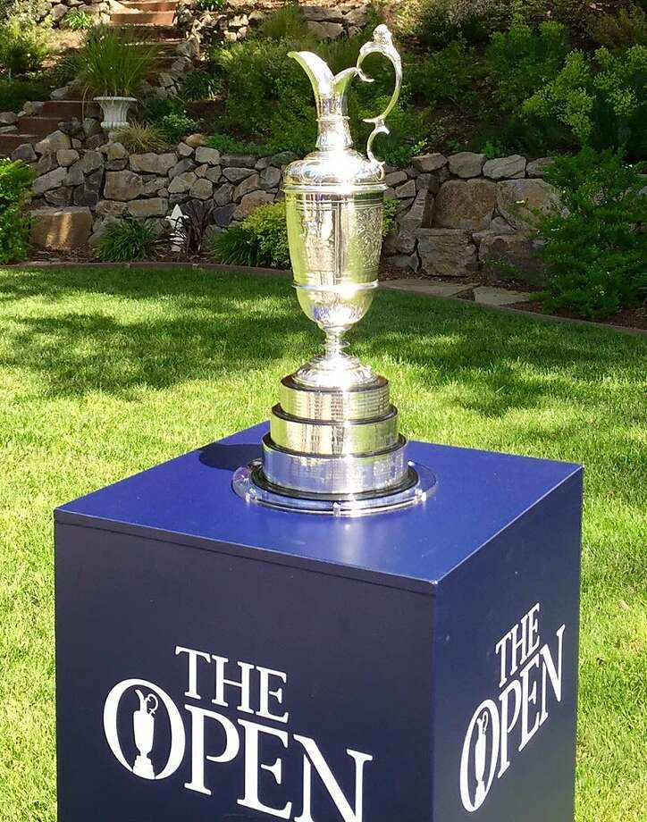 The Claret Jug stopped in the Bay Area as part of its U.S. tour in advance of the British Open in July. Photo: Ron Kroichick