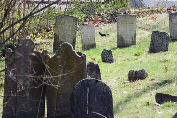 The Old Burying Ground at Byram Shore, seen here, is also the location of the Lyon cemetery.