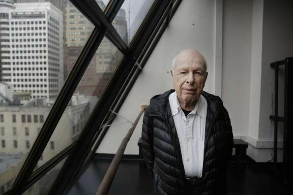 Theater director and film director Peter Brook stands for a portrait at A.C.T.'s rehearsal studios on Monday, April 24, 2017 in San Francisco, Calif.