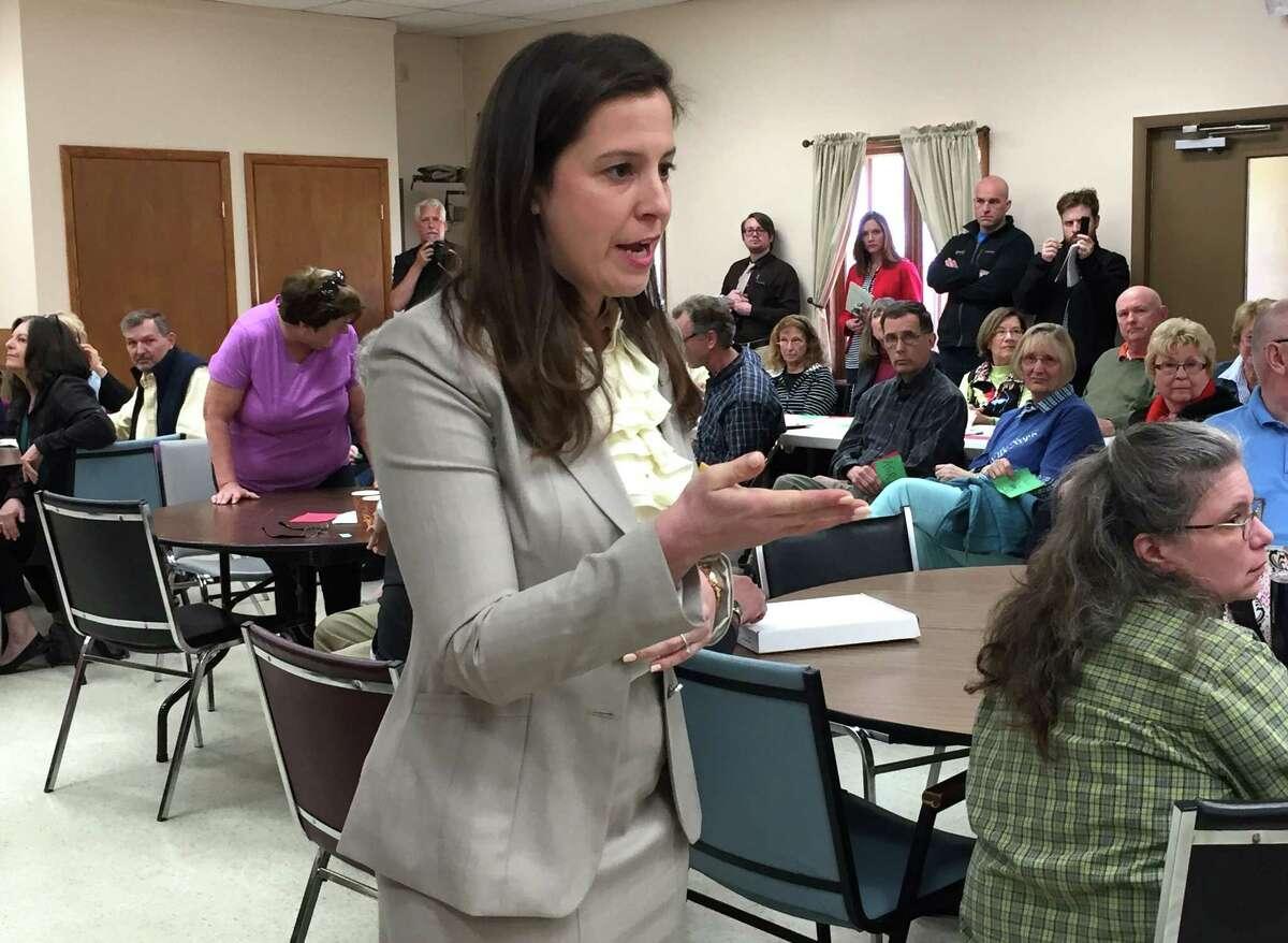 Rep. Elise Stefanik, R-Essex County, speaks at a