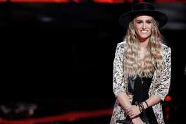 Stephanie Rice during top 12 week on The Voice.
