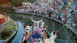 Thhis Rey Feo float featuring Star Wars characters at the 2017 Texas Cavaliers River Parade gives an idea of what to expect at the Diez y Seis de Septiembre River Parade.