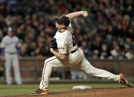 Mark Melancon (41) in to close the game as the San Francisco Giants played the Los Angeles Dodgers at AT&T Park in San Francisco, Calif., on Monday, April 24, 2017.