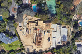 A Google satellite photo of the Los Angeles estate that Beyonce and Jay Z reportedly put a bid on in 2017. This is when the 8-bedroom home with 4 pools was still in construction.