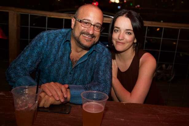 Edward Lazaga and Anali Barrera enjoy an evening at Bexar Pub.
