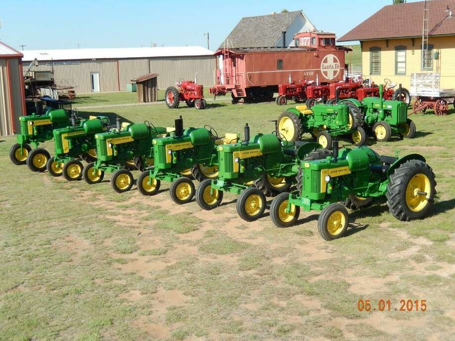 Vintage John Deere tractors are shown lined up for display in 2015 for the Texas Plains Two-Cylinder Club and Hale County Farm & Ranch Museum's Antique Tractor Show. This year's event, which will the 25th annual show, is set for 8 a.m. to 6 p.m. Saturday, May 6, at the museum, at Exit 36 on I-27 south of Hale Center. The 2017 show is dedicated to two deceased club members, Avenell Armstrong and Thalua Garner. The event includes tractor games, parade and raffle for a John Deere youth bicycle and pedal tractor. Proceeds help support the museum, which will provide concessions, and FFA tractor restoration projects. All tractors are welcome. Admission is free, donations are welcome. Call 806-774-4457, 806-684-2211 or 806-292-6327 for information.