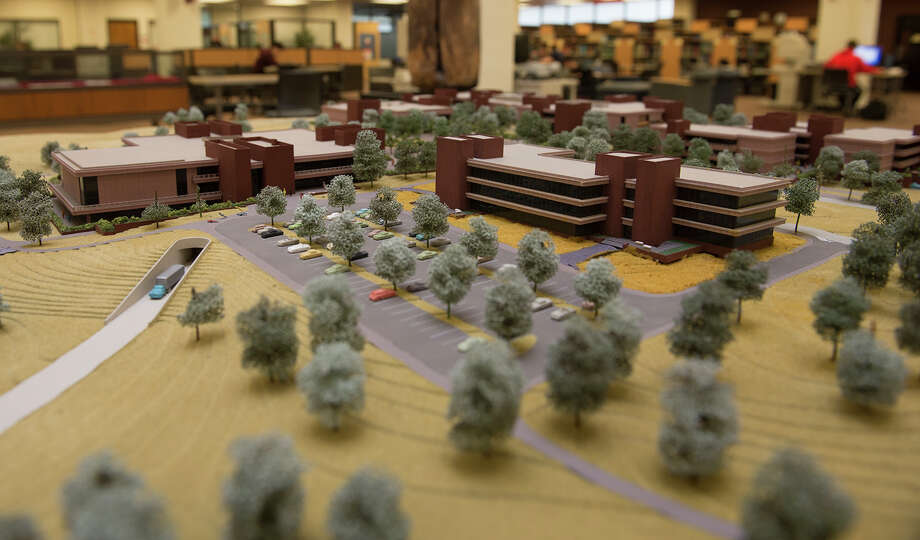 The scale model of the SIUE campus at Lovejoy Library. Photo: SIUE Photo