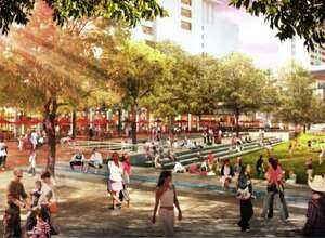 1.San Antonio is reversing the trend of urban sprawl by becoming a pedestrian-friendly business, recreation, and art hub accessible to anyone in the downtown area.  http://hemisfair.org/wp-content/uploads/2016/01/Hemisfair-Civic-Park-GGN-Renderings.pdf