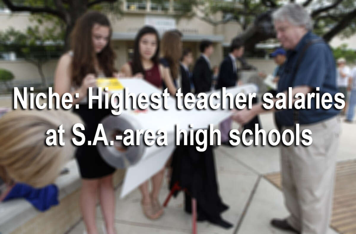 The average salaries of San Antonio public high school teachers range from $42,000 to $55,000, according to a new ranking by Niche. Click through the gallery for the full list of San Antonio average teacher salaries ranked from highest paid to lowest.