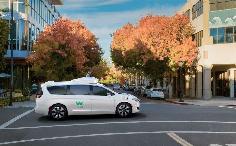 Waymo, a division of Google's parent company Alphabet, has worked with Fiat Chrysler Automobiles to create a self-driving version of the Chrysler Pacifica minivan. Photo: Waymo