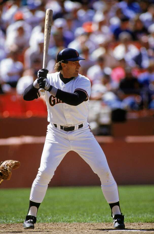 1990:  Gary Carter #8 of the San Francisco Giants stands ready at the plate during a 1990 season game at Candlestick Park. Photo: Otto Greule Jr, Getty Images
