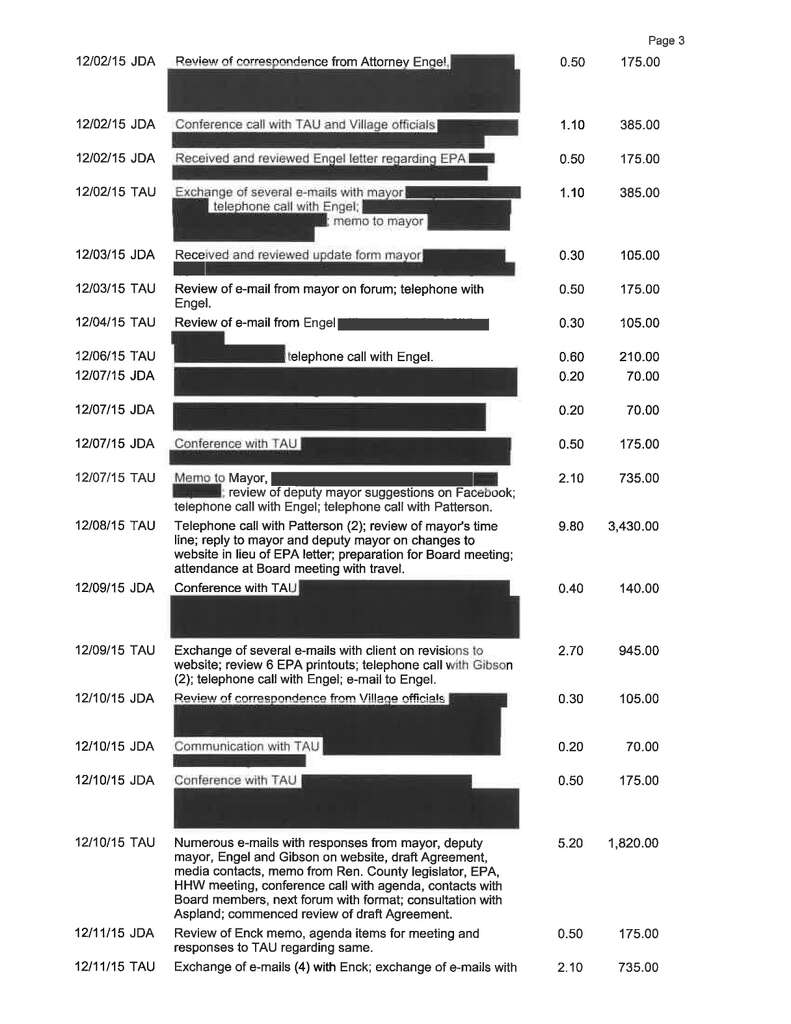 Invoices Detail Hidden Legal Work In Hoosick Falls Times Union - Tophatter com invoices