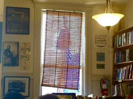 City Lights poetry room in the afternoon sun. Photo: Leah Garchik, San Francisco Chronicle