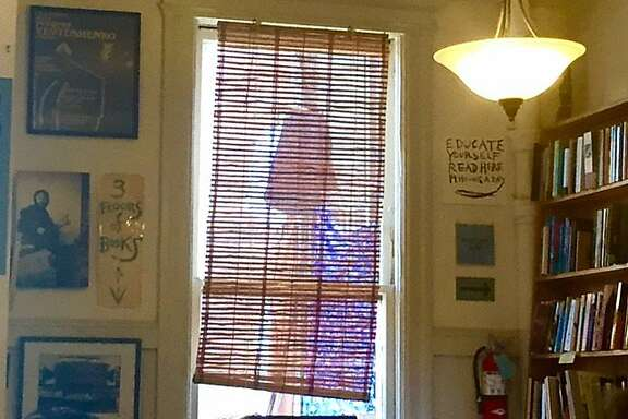 City Lights poetry room in the afternoon sun