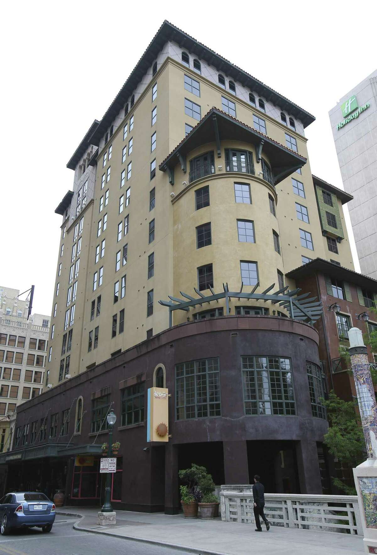 A New York real estate firm bought the Hotel Valencia property in downtown San Antonio - nearly two years after a Houston company bought the land for more than $14 million.