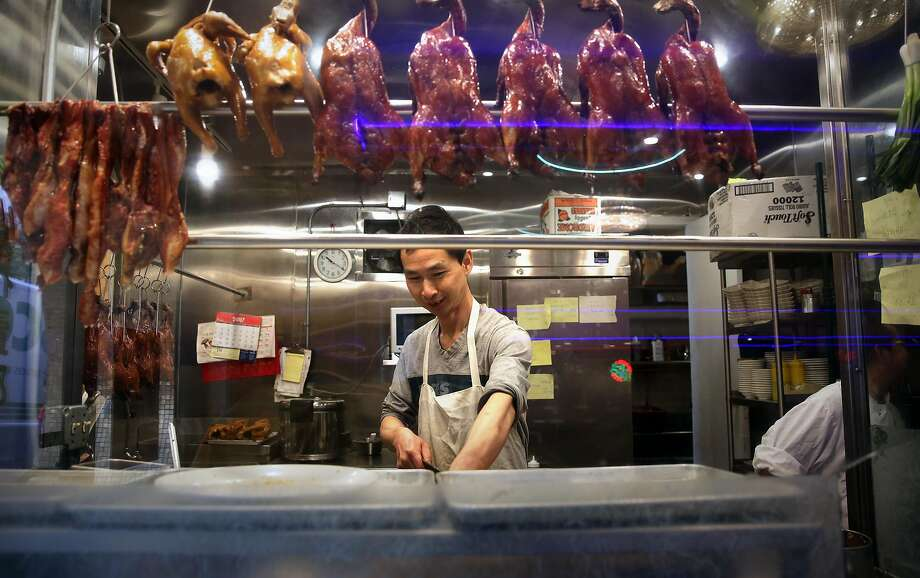 One of the cooks working at the popular New Asia restaurant in Chinatown in San Francisco, Calif., on Tuesday April 26, 2017. The city of San Francisco is in contract to purchase the property and build affordable housing, with a new New Asia restaurant downstairs. Photo: Michael Macor, The Chronicle