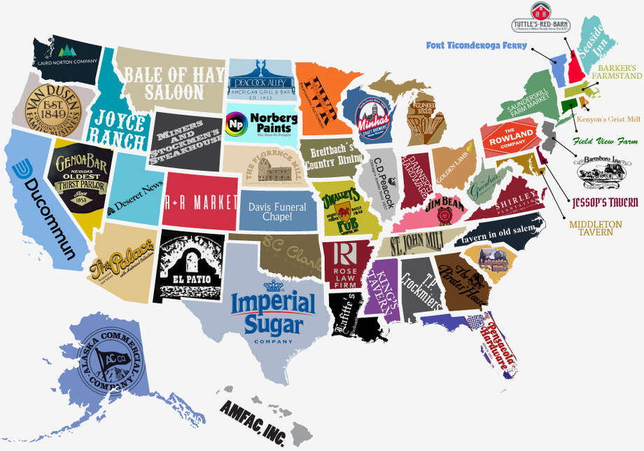 PHOTOS: The true stories behind Texas' most iconic brandsA new infographic released by website Visual Capitalist showed off the oldest business in each state, including Texas' own Imperial Sugar.Click through to see where and how other Texas brands got started...  Photo: Busy Beaver Button Co. / Visual Capitalist