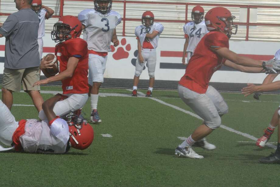 First practice of spring football Photo: Skip Leon/Plainview Herald
